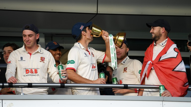 Sir Alastair Cook toasts Essex's 2019 County Championship triumph at Taunton
