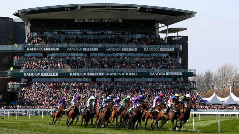 Aintree: will give 10,000 tickets to NHS staff for the first day of the National festival next year