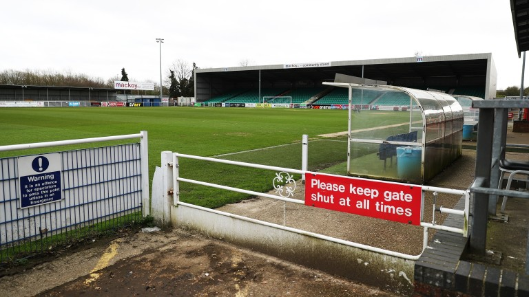 Football grounds across England will remain empty for the time being
