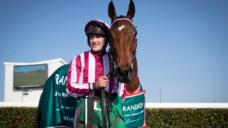 Space Cadet and rider Ben Harvey after winning the Randox Health Ulster National at Downpatrick last month