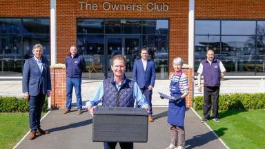 Meals on Wheels are being prepared at Newbury Racecourse in conjuncton with Age Concern and Swift Couriers