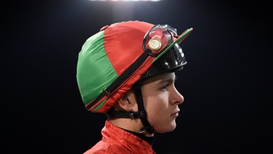 CHELMSFORD, ENGLAND - FEBRUARY 13: Jockey Thore Hammer Hansen looks on at Chelmsford City Racecourse on February 13, 2020 in Chelmsford, England. (Photo by Alex Davidson/Getty Images)