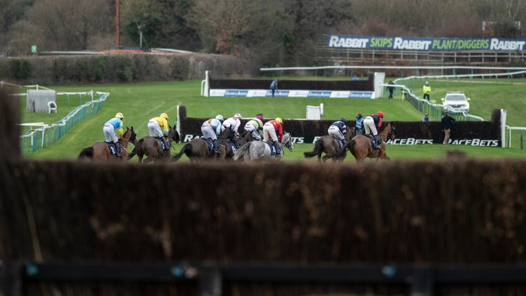 The figure of eight layout at Fontwell offers an unusual viewing experience