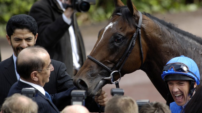 """Shamardal with Frankie Dettori (right): """"He had the attribute of every great horse and that was his will to win"""""""