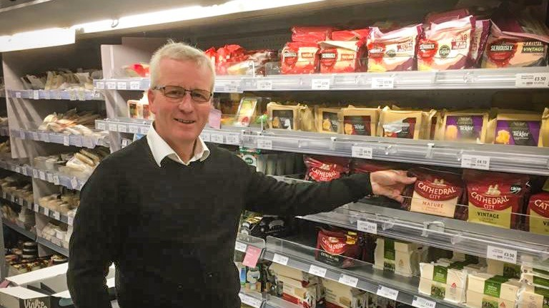 Seamus Mullins: is helping out at his local Waitrose