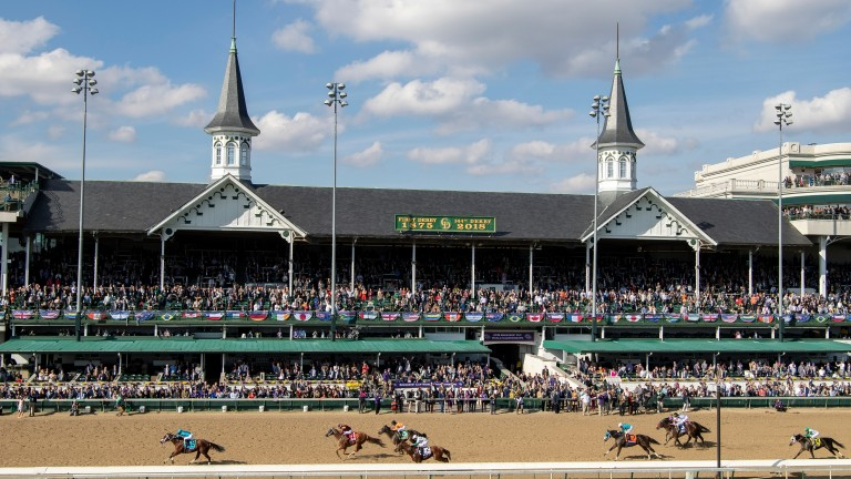 Churchill Downs: set to resume racing without spectators on May 16