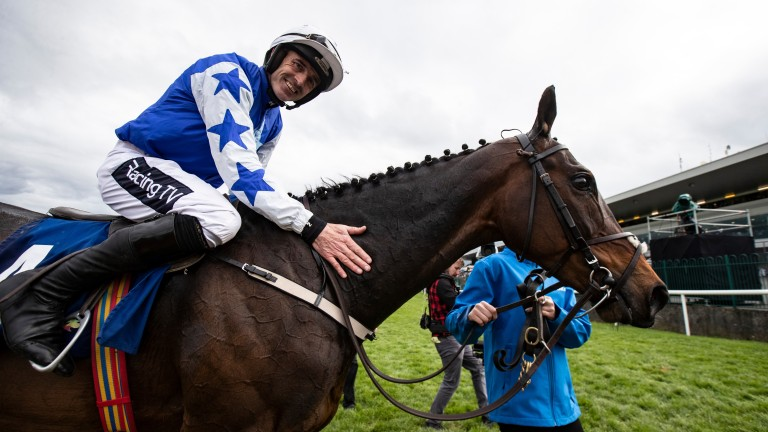 Ruby Walsh celebrates his final winner in the saddle after Kemboy's Punchestown victory