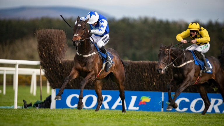 Kemboy clears away from Al Boum Photo to provide Ruby Walsh with a farewell winner