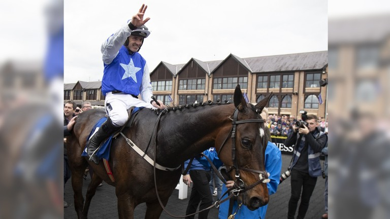 Ruby Walsh bids farewell to race-riding on an emotional day at the Punchestown festival