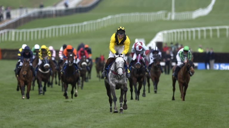 The popular Rooster Booster and Richard Johnson claim Champion Hurdle glory in 2003