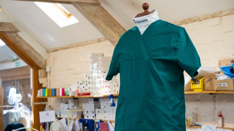 Allertons has been making scrubs that reduce the risk of NHS workers carrying the virus home
