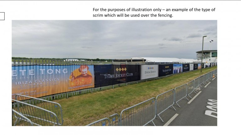 The conservators were shown this picture of the sort of fencing that will be used at Epsom