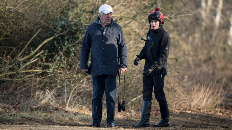 """Sir Michael Stoute with top-class rider Ryan Moore: """"He's always been a star to work with"""""""