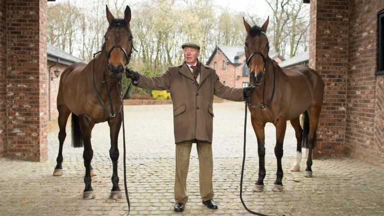 Trevor Hemmings, Ballabriggs (left) and Hedgehunter at Gleadhill House Stud in Chorley