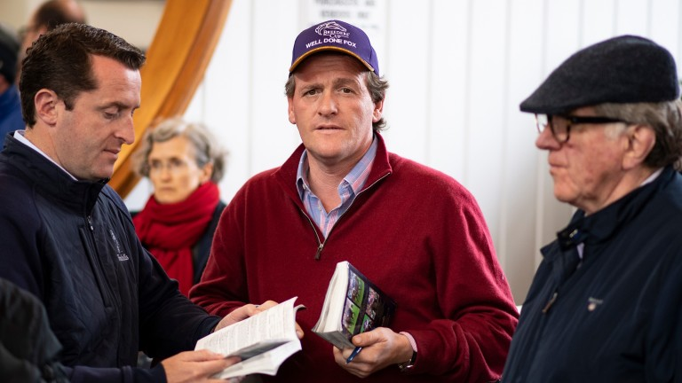 Richard Hannon jnr with Ross (left) and Peter Doyle