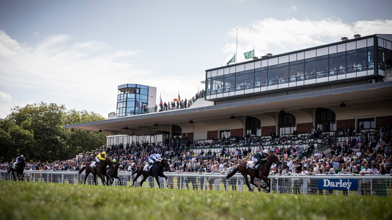 Up to 5,000 people can be at Deauville's Group 1 card on Sunday