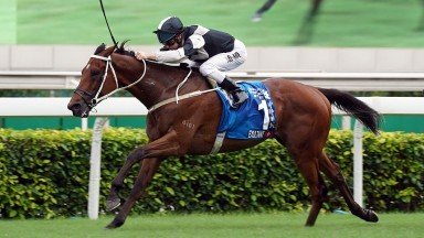 Exultant: recorded a fifth career Group 1 win in the Champions & Chater Cup