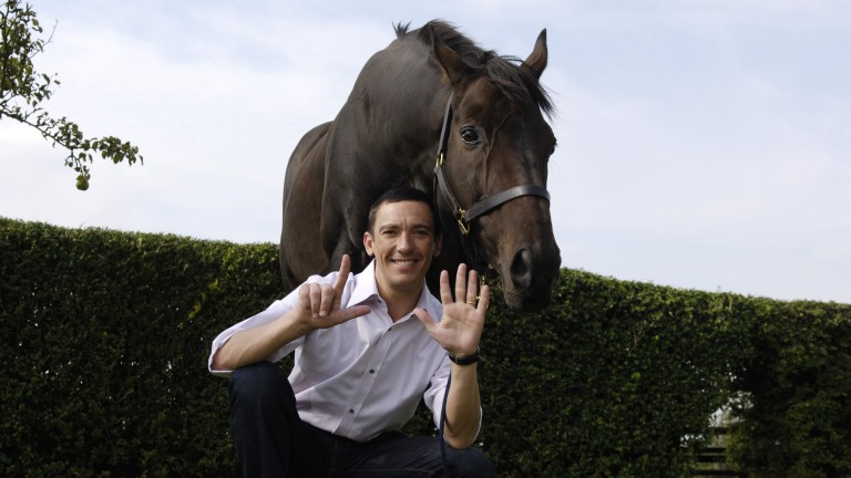 Fujiyama Crest with Frankie Dettori, who bought him privately after he went to the sales