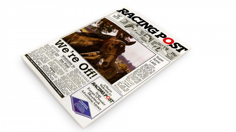 The Racing Post newspaper: on April 15, 1986, the first edition rolled off the presses