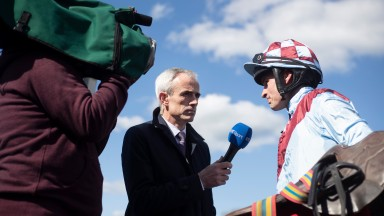 Ruby Walsh interviewing riders after the Annie Power Mares Champion HurdlePunchestown Festival.Photo: Patrick McCann/Racing Post 04.05.2019