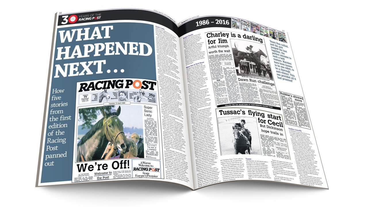 How five stories from the first edition of the Racing Post panned ...