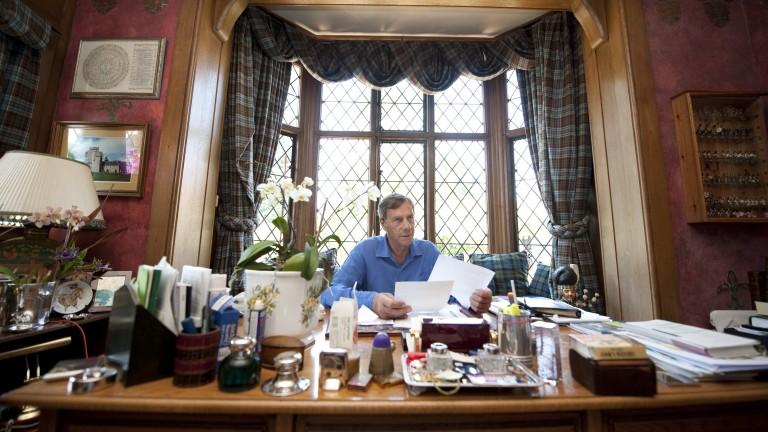 "Sir Henry Cecil in his office: ""I'd hate to go out at the bottom, I don't like being an also-ran"""