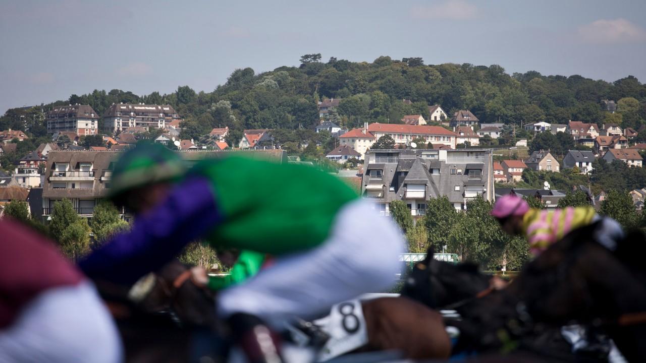 Deauville: la escena del Prix du Gros-Chene el domingo