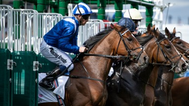 The winner Enbihaar (Jim Crowley) break from the stalls in the Park Hill StakesDoncaster 12.9.19 Pic: Edward Whitaker