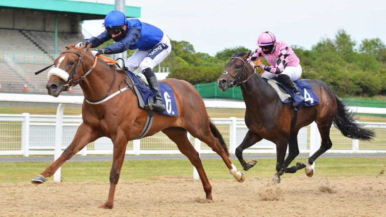 Muker supplies Mehmas with his first winner in Britain