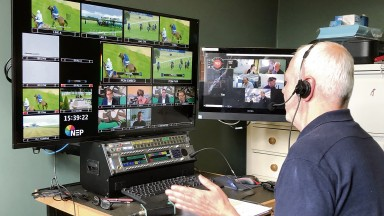 ITV Racing director Paul McNamara directing from a bedroom in his North London home