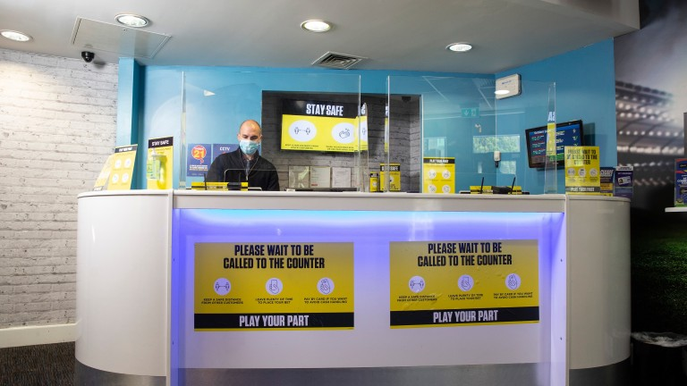 Betting shops have been operating under strict new guidelines