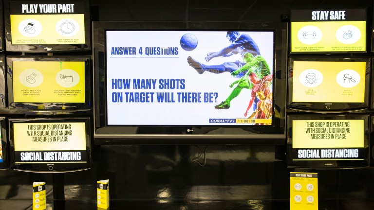 Social distancing messages will greet betting shop customers