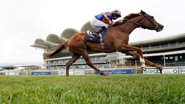 Love strides clear in the 1,000 Guineas for Ryan Moore and the Aidan O'Brien stable