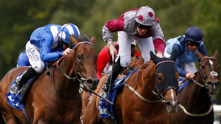 Muhaarar narrowly denies Tropics (spotted cap) in the 2015 July Cup
