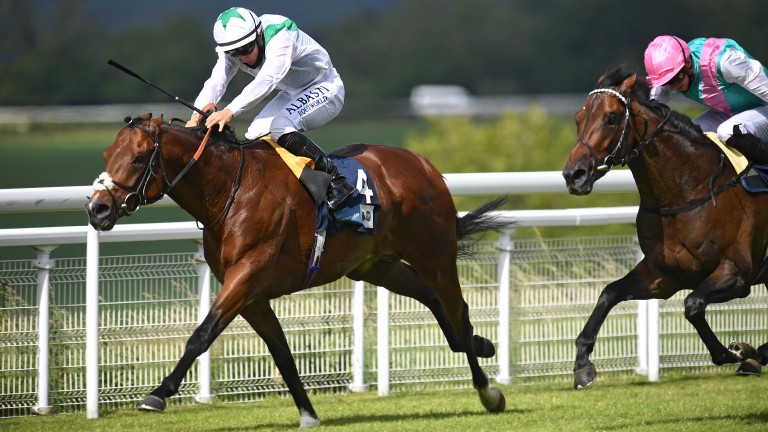 Khalifa Sat: won the Cocked Hat Stakes with Tom Marquand on board