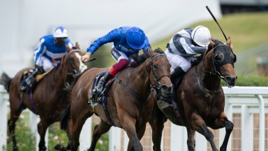 Circus Maximus (Ryan Moore right) beats Terebellum (Frankie Dettori) in the Queen Anne StakesAscot 16.6.20 Pic: Edward Whitaker/ Racing Post