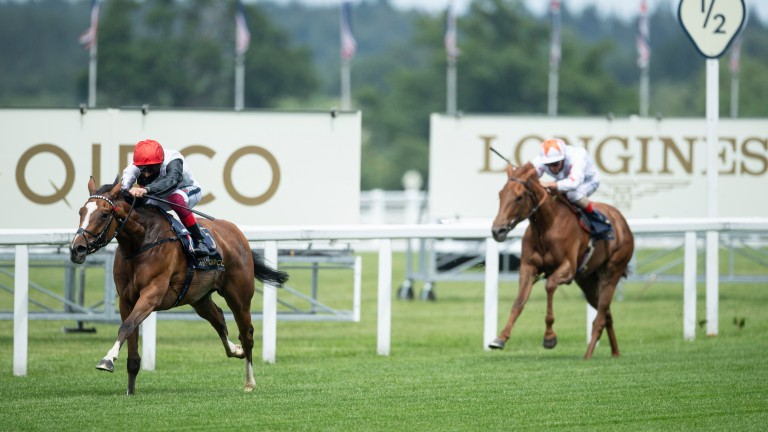 Frankly Darling goes clear in the Group 2 Ribblesdale Stakes