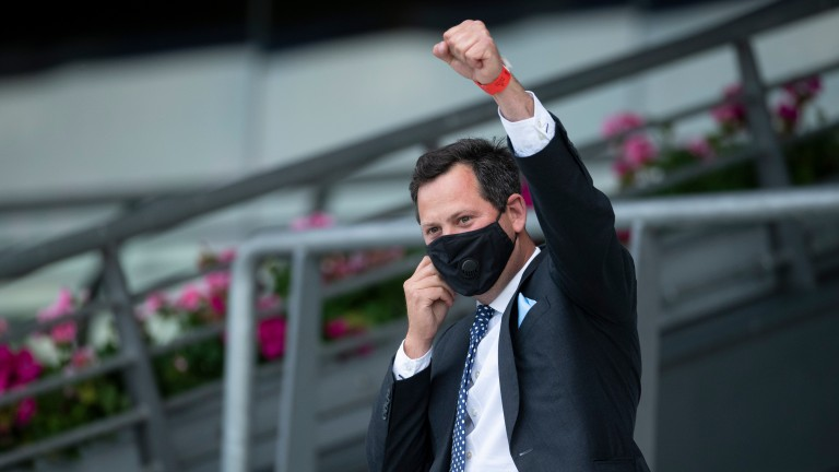 Charlie Hills: partnered with Kieran Shoemark to land a Lingfield double