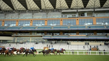The Queen's horse Tactical ridden by James Doyle win The Windsor Castle Stakes Ascot 17.6.20 Pic: Edward Whitaker / Racing Post
