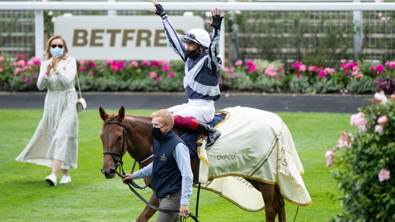 Frankie Dettori on cloud nine after his Coronation Stakes triumph on Alpine Star
