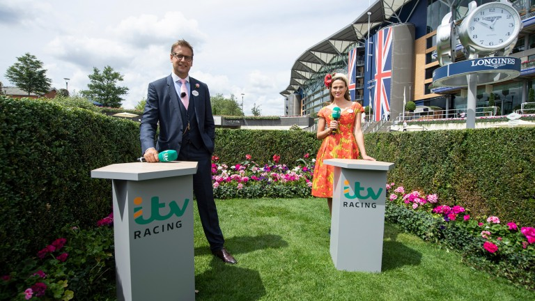 ITV's Ed Chamberlin and Francesca Cumani at Royal Ascot last week