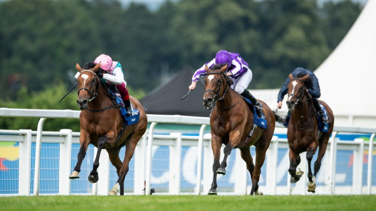 Enable (left) gets the better of Magical to win last year's Coral-Eclipse