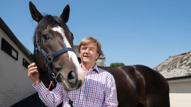 """Trainer William Muir - """"William or Willie, but I don't answer to Bill"""" - at home with live Derby contender Pyledriver"""