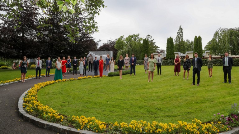 Irish National Stud students take social distancing seriously in their class photo