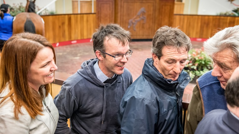 Michael Murray (second left): a huge fan of Rathbarry sire Acclamation