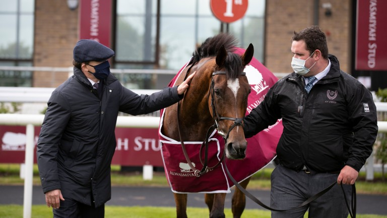 """Aidan O'Brien (alongside groom Liam O'Brien) on Magical: """"She got stronger over the winter and that's why the lads brought her back"""""""