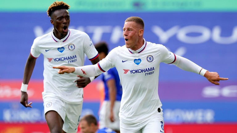 Ross Barkley (right) celebrates scoring Chelsea's winner against Leicester in the FA Cup