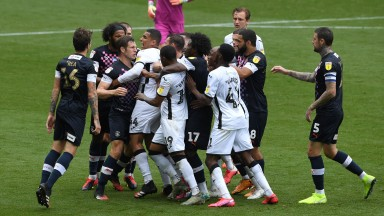 Luton won 1-0 in a feisty Sky Bet Championship fixture at Swansea