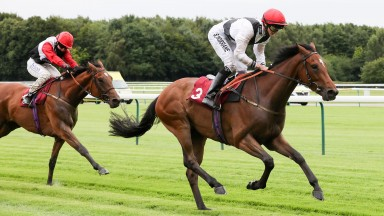 King's Charisma and injured Sean Kirrane win the 1m2f handicap ahead of third-placed Gibraltar at Haydock on Friday