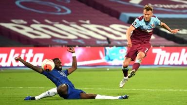 Andriy Yarmolenko scores West Ham's winner against Chelsea